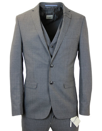 BEN SHERMAN Micro Dogtooth 2 Button Suit Jacket