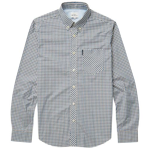 BEN SHERMAN Retro Mod 60s Gingham Shirt