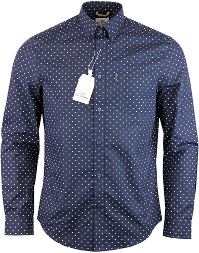 BEN SHERMAN Original Mod 60s Polka Dot Shirt