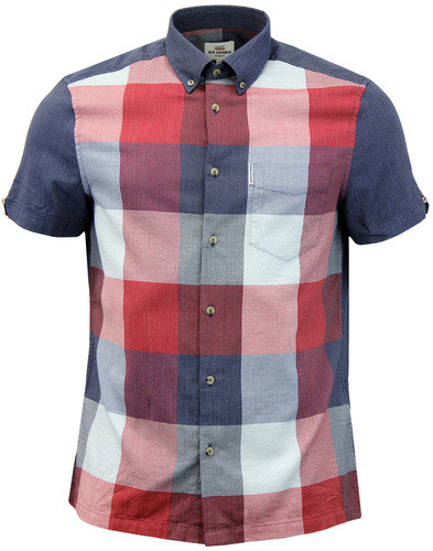 BEN SHERMAN Mod Retro Panel Check S/S Shirt
