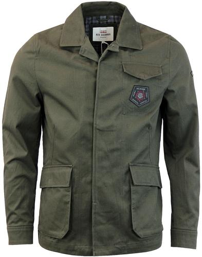 BEN SHERMAN 60s Mod Twill Military Badged Jacket P