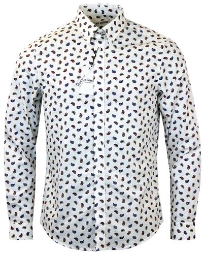 Ben Sherman Mens Burgundy Retro Paisley Shirts