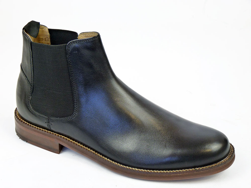 Deon BEN SHERMAN 60s Mod Leather Chelsea Boots (B)