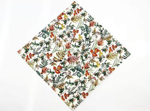 BEN SHERMAN RETRO MOD FOLIAGE POCKET SQUARE FLORAL