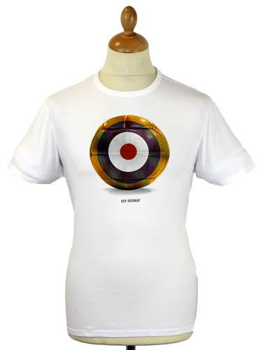 Mod Target Football BEN SHERMAN Retro T-Shirt (W)