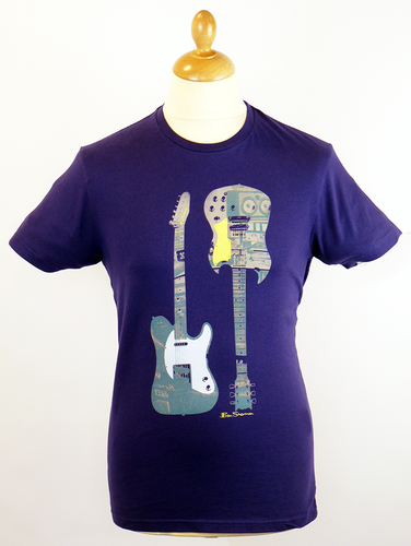 Two Guitars BEN SHERMAN Retro Indie X-Ray T-Shirt