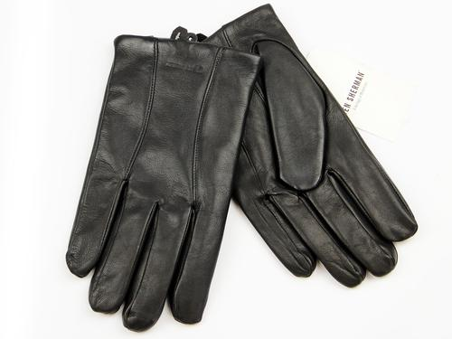BEN SHERMAN RETRO MOD LEATHER GLOVES BLACK