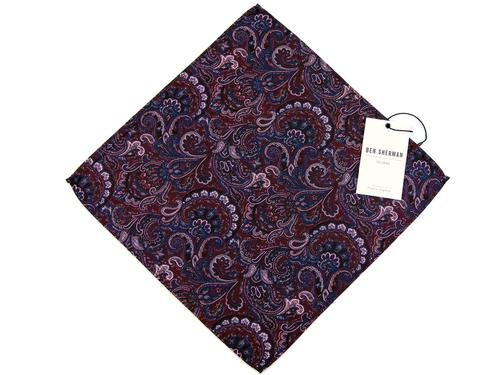 BEN SHERMAN SIXTIES MOD PAISLEY POCKET SQUARE