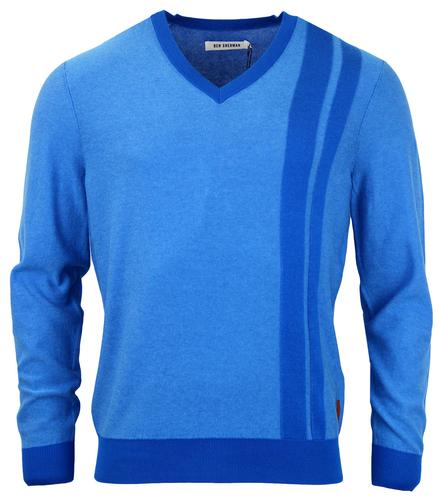 BEN SHERMAN RETRO MOD 60S RACING JUMPER BLUE