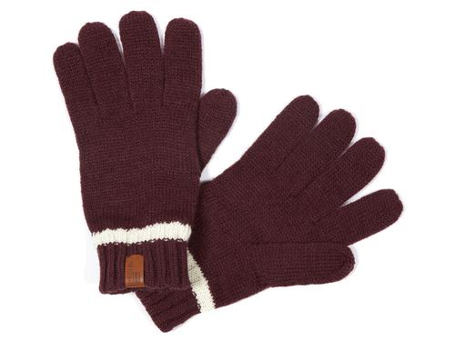 BEN SHERMAN RETRO MOD KNITTED GLOVES RED