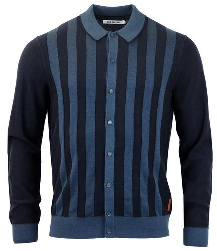 BEN SHERMAN RETRO 60s STRIPE CARDIGAN