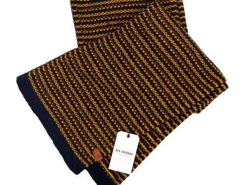 BEN SHERMAN RETRO MOD KNITTED TEXTURED SCARF
