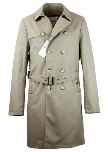 Ben Sherman Double Breasted Twill Trench Coat M