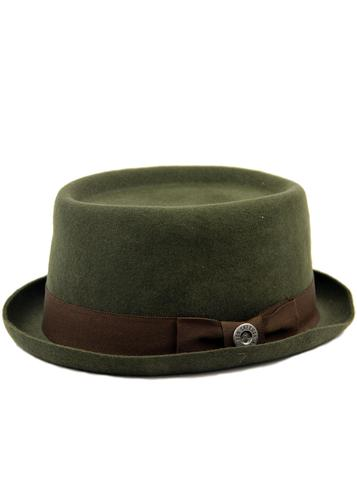 BEN SHERMAN RETRO MOD PORK PIE HAT GREEN