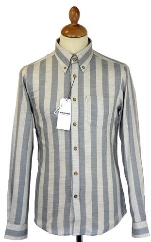 Ben Sherman Mod Roller Stripe Button Down Shirt SF
