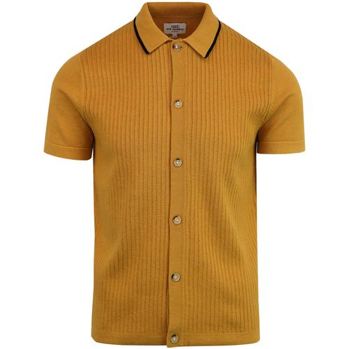 BEN SHERMAN 60s Mod Ribbed Button Up Polo Top (MY)