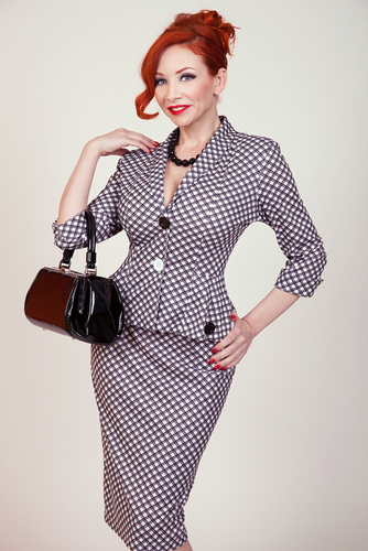 bettie page checkers retro fifties plaid vintage pencil skirt. Black Bedroom Furniture Sets. Home Design Ideas