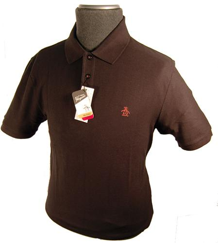 black with red piping penguin polo shirt main.jpg