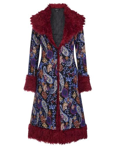 Nadia BRIGHT & BEAUTIFUL Retro 70s Paisley Coat