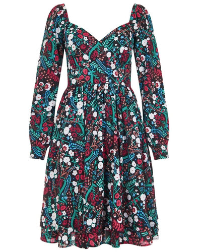 Flora BRIGHT & BEAUTIFUL 1970s Floral Gipsy Dress
