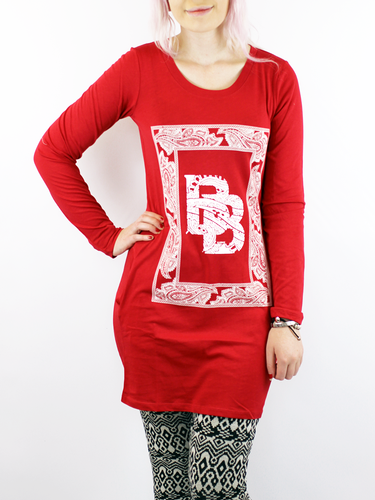 BRIGITTE BARDOT RETRO 60S T-SHIRT DRESS RED