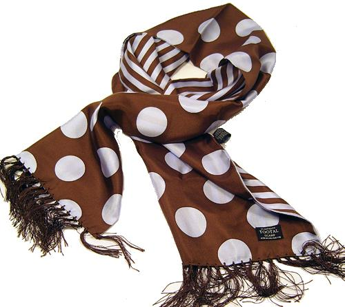 TOOTAL SCARF - Blue Penny Dot Stripe