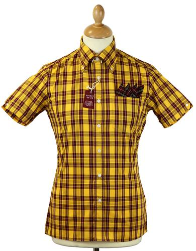 BRUTUS TRIMFIT RETRO MOD DR MARTENS SHIRT YELLOW