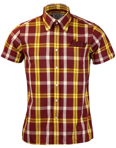 BRUTUS TRIMFIT DR MARTENS MOD CHECK SHIRT RED