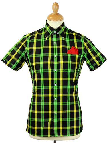 BRUTUS TRIMFIT RETRO MOD JAMAICAN CHECK SHIRT