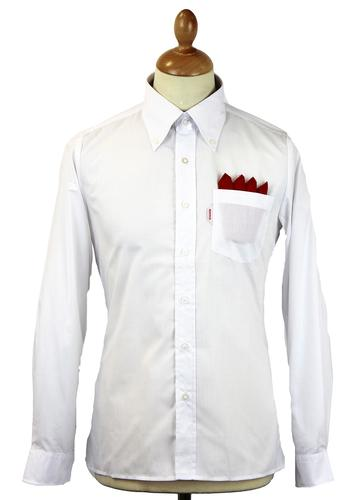 BRUTUS TRIMFIT RETRO MOD LTD EDITION WHITE SHIRT
