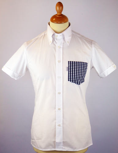 BRUTUS TRIMFIT SHIRT POCKET SHIRT WHITE RETRO 70S