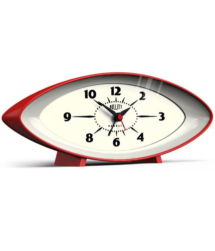 NEWGATE BULLIT RETRO 60s SPACE AGE ALARM CLOCK RED