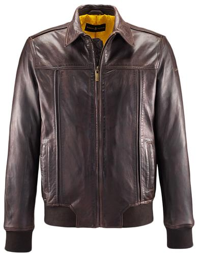 BARNEY AND TAYLOR LEATHER JACKET BURY CHOCOLATE