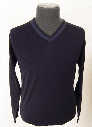 'Harold' - Retro Cashmere Jumper by JOHN SMEDLEY