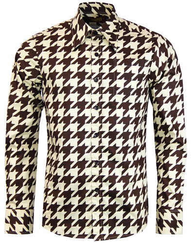 Shinori CHENASKI Retro Dogtooth Big Collar Shirt