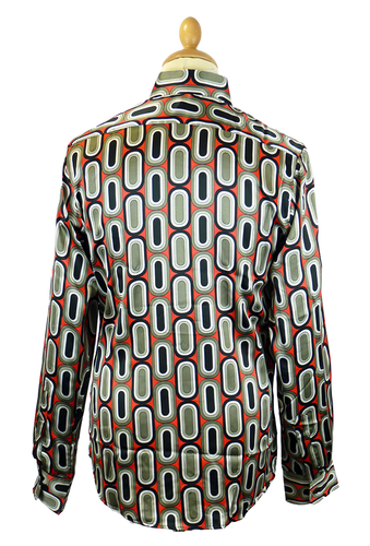 Ovals CHENASKI Retro 70s Big Collar Disco Shirt