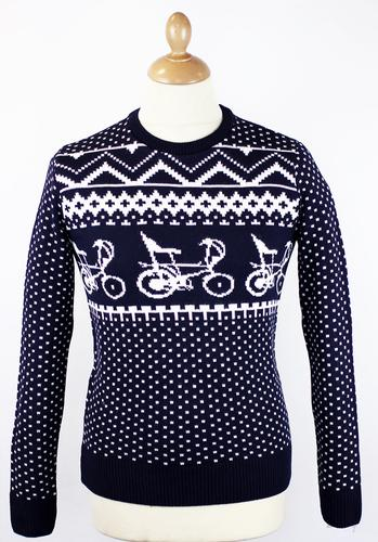 RETRO CHRISTMAS CHOPPER BIKE 70S XMAS JUMPER