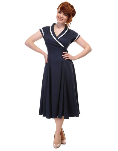 Yoshima COLLECTIF Vintage 1950s Style Swing Dress