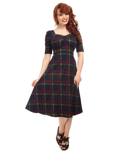 Dolores Darling COLLECTIF Retro Check Doll Dress