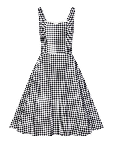 Chloe COLLECTIF Retro 50s Gingham Swing Dress
