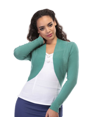 Jean COLLECTIF Vintage 50s Knitted Bolero Cardigan