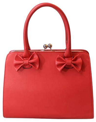 Jessica COLLECTIF Retro 1950s Bow Handbag in Red