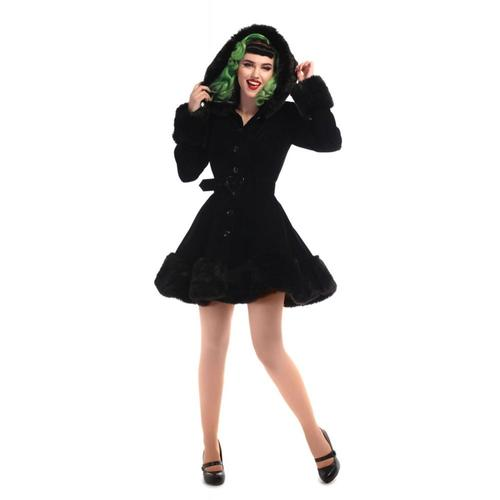 Collectif Short Velvet Coat