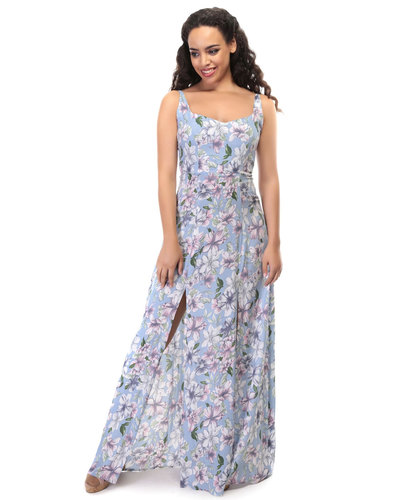 Maisie COLLECTIF 50s Watercolour Floral Maxi Dress