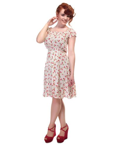 Renie COLLECTIF Retro 1950s Cherry Dot Gypsy Dress
