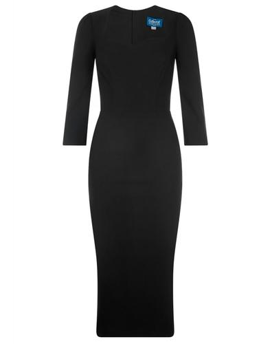 Vanessa COLLECTIF Retro 50s Pencil Dress in Black