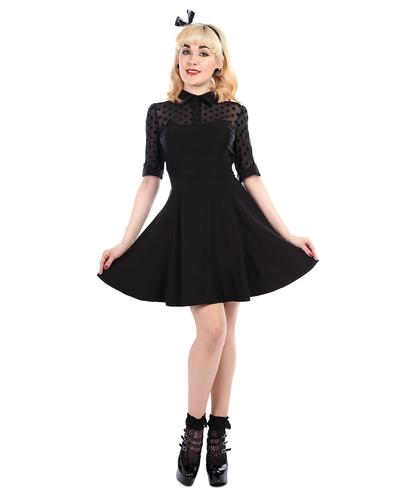 Wednesday COLLECTIF Retro 50s Vintage Skater Dress