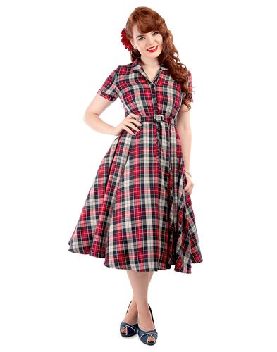 COLLECTIF RETRO VINTAGE 50s SWING DRESS CATARINA