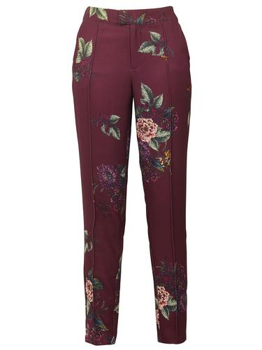 DARLING RETRO BOHO PRINT TROUSERS PLUM CAMILLE