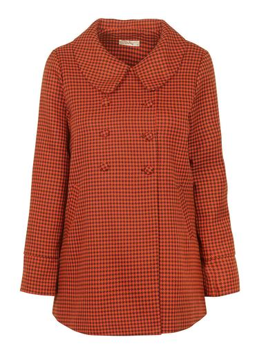 DARLING RETRO 60s VINTAGE COAT ENID DOGTOOTH
